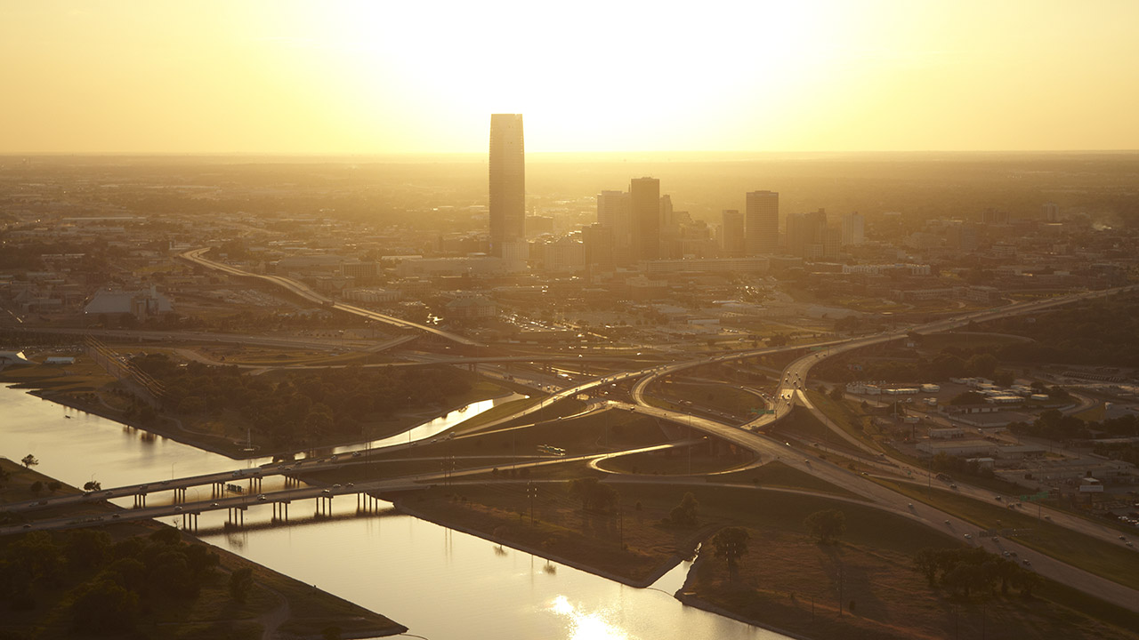 View of downtown Oklahoma City